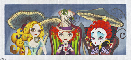 click here to view larger image of Tea Party (hand painted canvases)