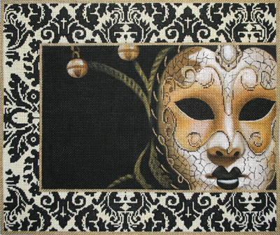click here to view larger image of Gold and Black Mask (hand painted canvases)