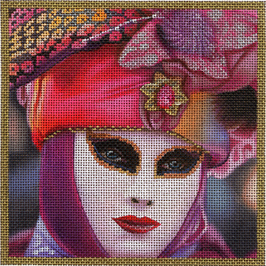 click here to view larger image of Small Jeweltone Mask (hand painted canvases)