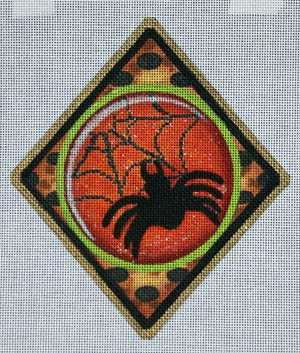 click here to view larger image of Spider Web Ornament (hand painted canvases)