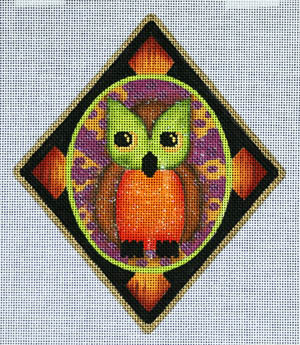 click here to view larger image of Owl Ornament (hand painted canvases)