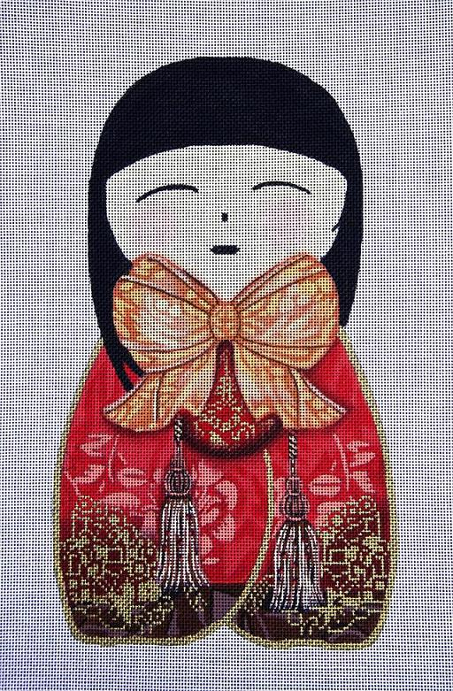 click here to view larger image of Geisha Doll 1 (hand painted canvases)