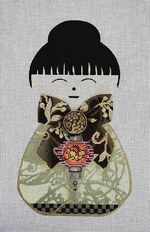 click here to view larger image of Geisha Doll 2 (hand painted canvases)