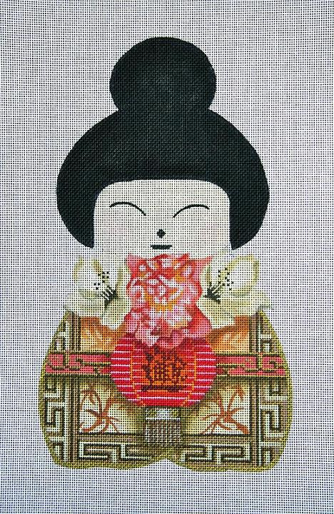 click here to view larger image of Geisha Doll 3 (hand painted canvases)