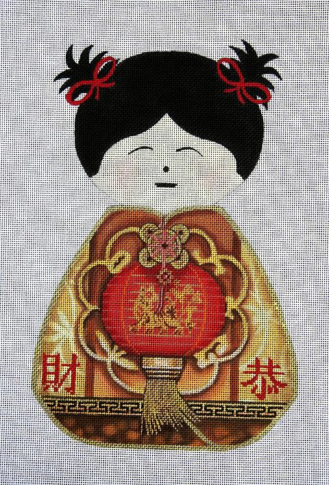 click here to view larger image of Geisha Doll 4 (hand painted canvases)