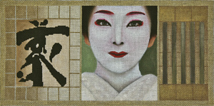 click here to view larger image of Geisha Scroll 1 (hand painted canvases)