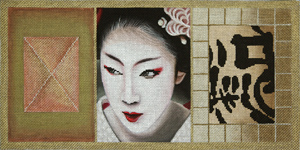 click here to view larger image of Geisha Scroll 3 (hand painted canvases)