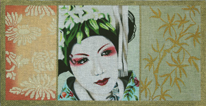click here to view larger image of Floral Geisha Scroll 1 (hand painted canvases)