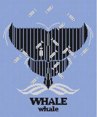 click here to view larger image of WHALEwhale (hand painted canvases)