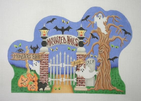 click here to view larger image of Monsters Ball Scene (hand painted canvases)