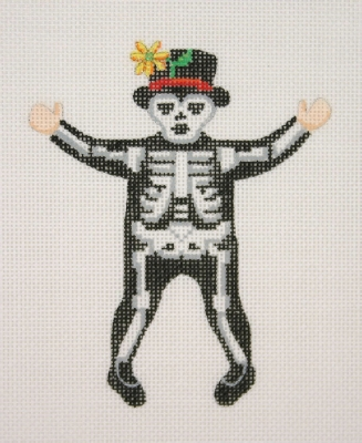 click here to view larger image of Dancing Skeleton (hand painted canvases)