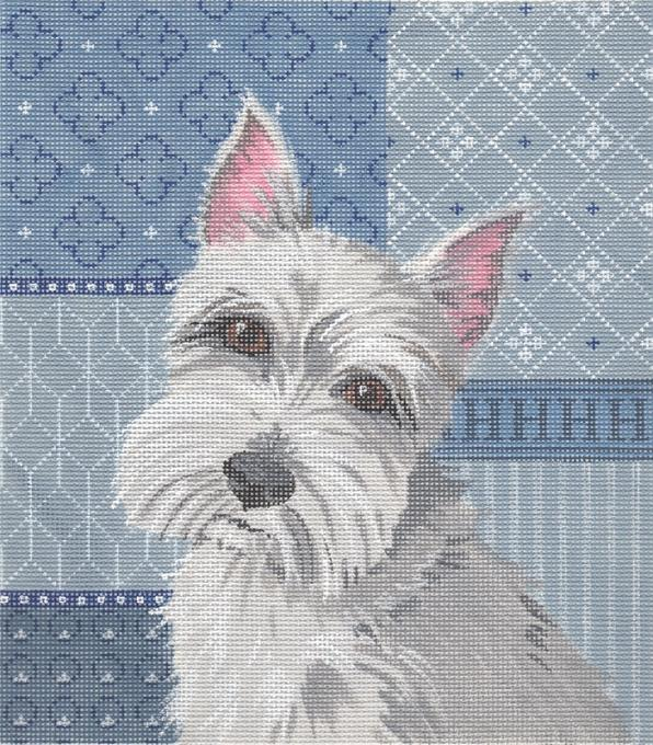 click here to view larger image of Schnauzer (hand painted canvases)