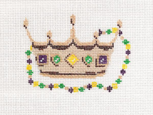 click here to view larger image of Small Mardi Gras Crown (hand painted canvases)
