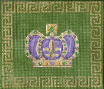 click here to view larger image of Medium Mardi Gras Crown with Border (hand painted canvases)