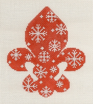 click here to view larger image of Fleur de Snowflake (hand painted canvases)