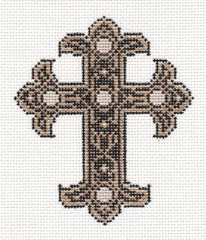 click here to view larger image of January Cross - 14ct (hand painted canvases)