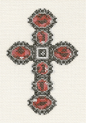 click here to view larger image of December Cross - 14ct (hand painted canvases)