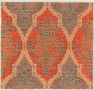 click here to view larger image of March Medallion - Indian red (hand painted canvases)