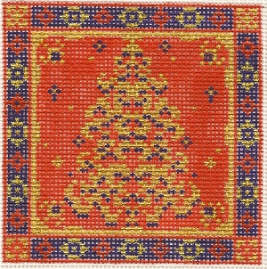 click here to view larger image of December Medallion - Glitter Tree - 18ct (hand painted canvases)