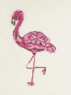 click here to view larger image of Pink Flamingo (hand painted canvases)