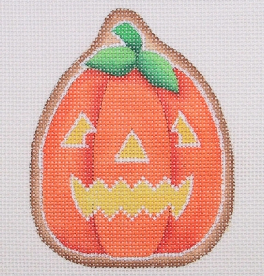 click here to view larger image of Halloween Cookie - Tall Pumpkin / Jack-O-Lantern Face (hand painted canvases)