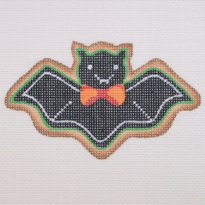 click here to view larger image of Halloween Cookie - Bat (hand painted canvases)