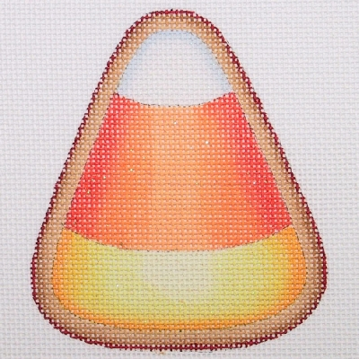 click here to view larger image of Halloween Cookie - Candy Corn (hand painted canvases)