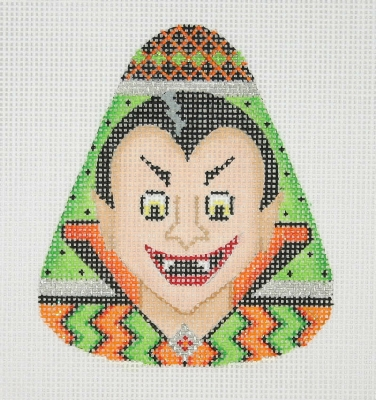 click here to view larger image of Candy Corn Shaped Dracula (hand painted canvases)