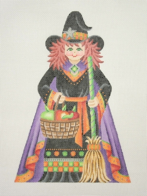click here to view larger image of Witch - Front (hand painted canvases)