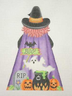 click here to view larger image of Witch - Back (hand painted canvases)