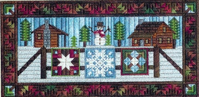 click here to view larger image of Airing the Winter Quilts (counted canvas work)