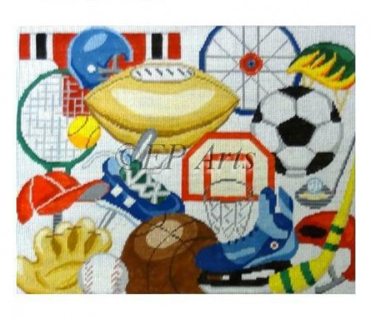 click here to view larger image of Sports Equipment (hand painted canvases)
