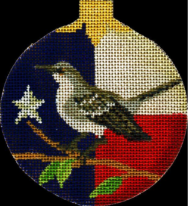 click here to view larger image of Texas Mockingbird Ornament (hand painted canvases)