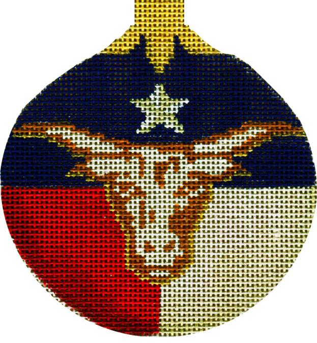 click here to view larger image of Texas Longhorn Ornament (hand painted canvases)
