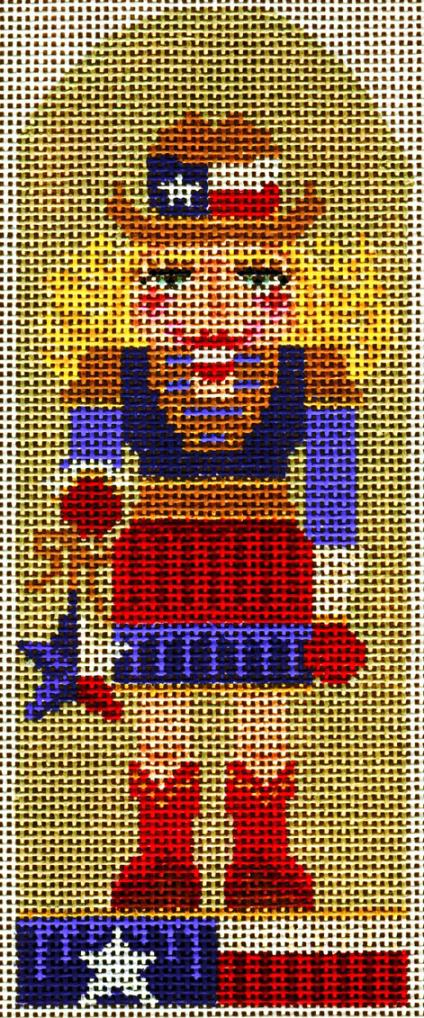 click here to view larger image of Texas Cowgirl Nutcracker (hand painted canvases)