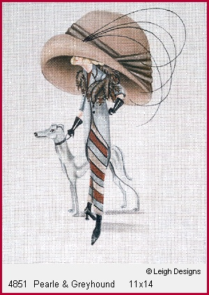 click here to view larger image of Pearle and Greyhound (hand painted canvases)