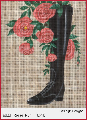 click here to view larger image of Roses Run (hand painted canvases)