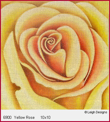 click here to view larger image of Yellow Rose (hand painted canvases)