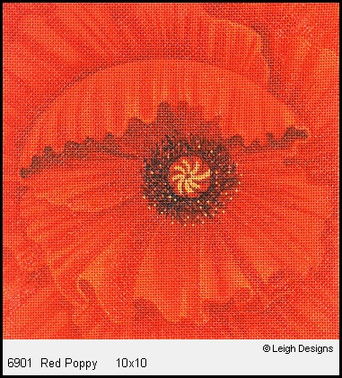 click here to view larger image of Red Poppy (hand painted canvases)
