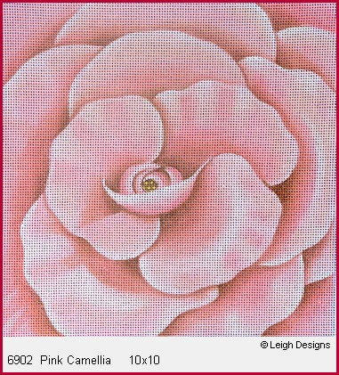 click here to view larger image of Pink Camellia (hand painted canvases)