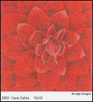 click here to view larger image of Claret Dahlia (hand painted canvases)