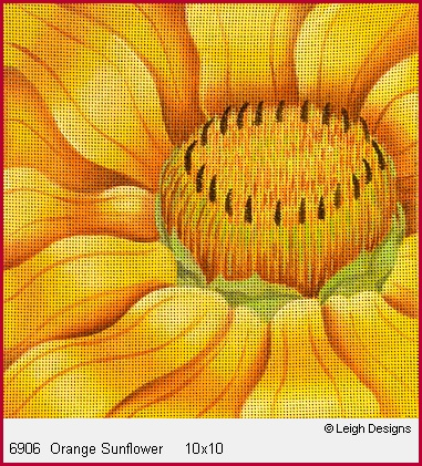 click here to view larger image of Orange Sunflower (hand painted canvases)