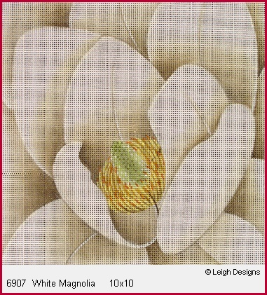 click here to view larger image of White Magnolia (hand painted canvases)