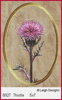 click here to view larger image of Thistle (hand painted canvases)