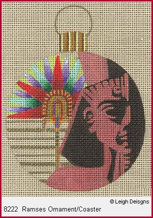 click here to view larger image of Ramses Ornament Coaster (hand painted canvases)
