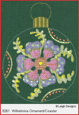 click here to view larger image of Wilhelmina Ornament Coaster (hand painted canvases)