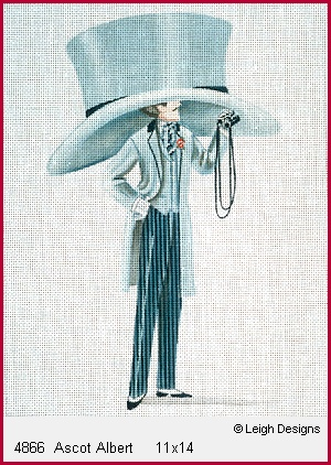 click here to view larger image of Ascot Albert (hand painted canvases)