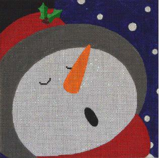 click here to view larger image of Graphic Snowman Top Hat (hand painted canvases)