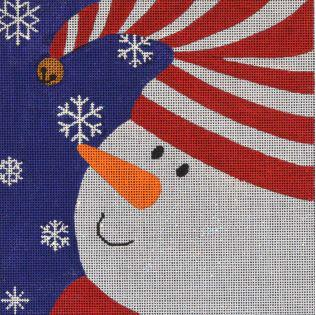 click here to view larger image of Graphic Snowman  Bell (hand painted canvases)