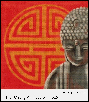 click here to view larger image of Ch'ang An Coaster (hand painted canvases)